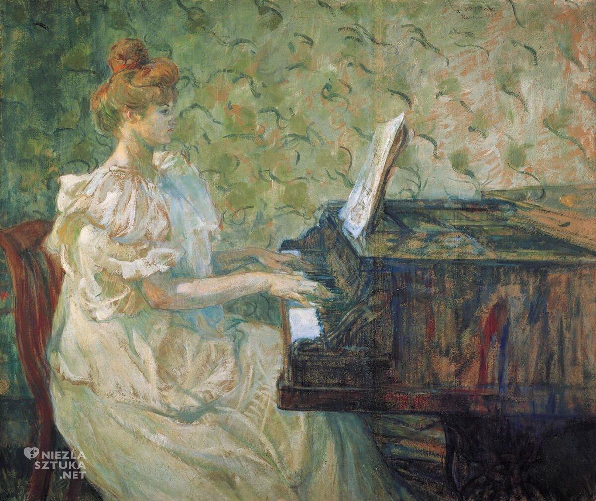 Henri de Toulouse-Lautrec, Misia Godebska, sztuka francuska, malarstwo francuskie, Niezła Sztuka