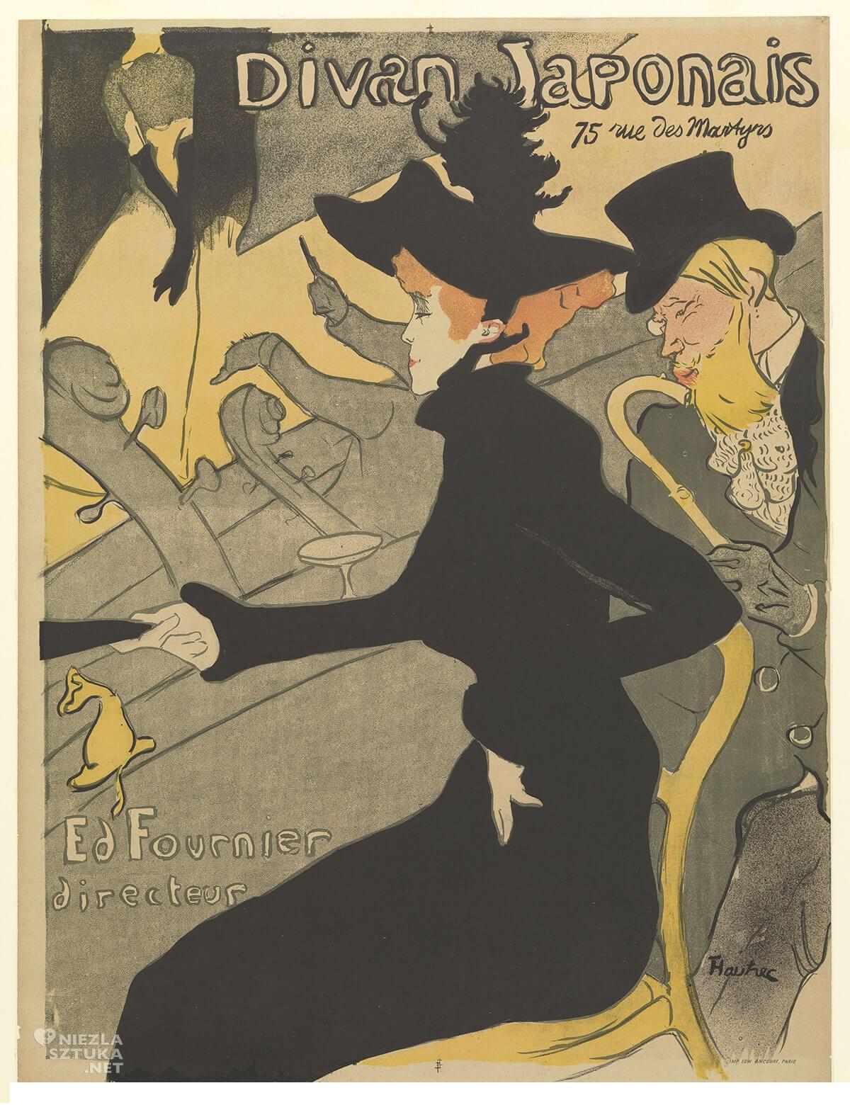 Henri de Toulouse-Lautrec, Divan Japonais, malarstwo francuskie, sztuka francuska, Niezła Sztuka