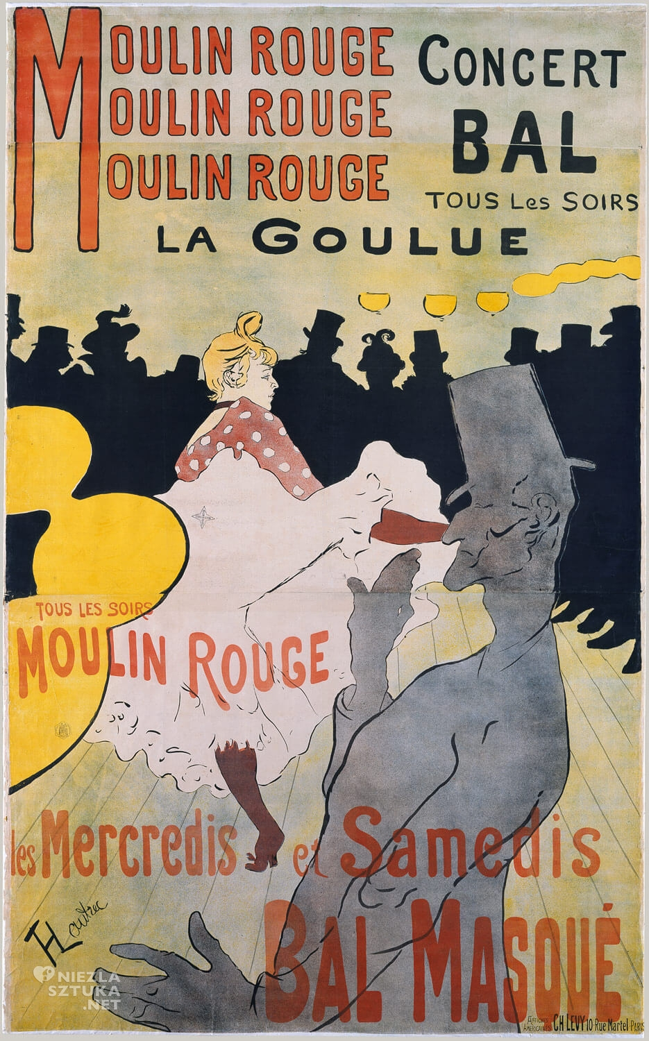 Henri de Toulouse-Lautrec, Moulin Rouge: La Goulue, Moulin Rouge, Niezła sztuka