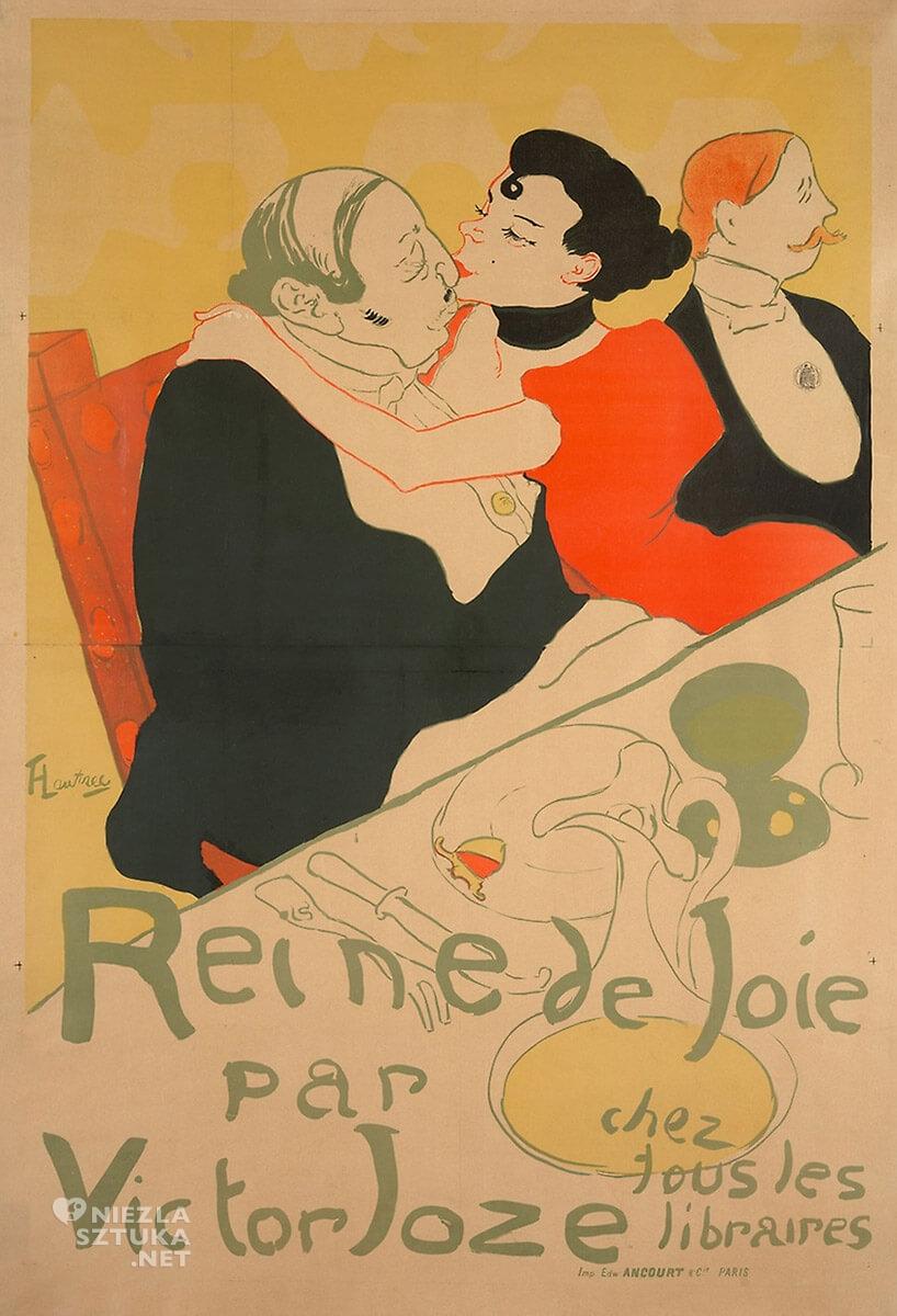 Henri de Toulouse-Lautrec, Reine de Joie arctic, sztuka francuska, malarstwo francuskie, Niezła Sztuka