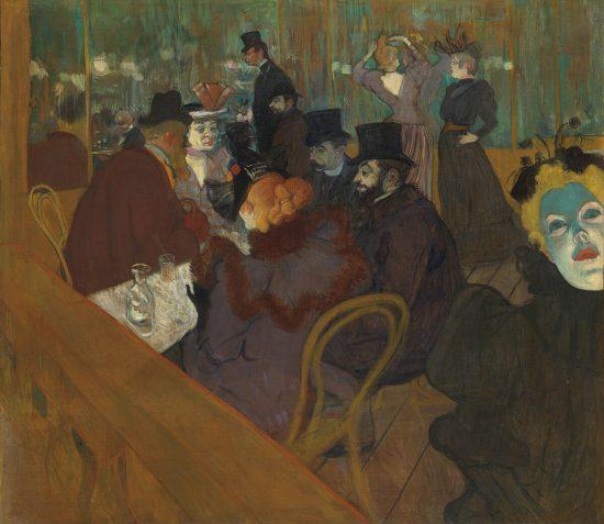 Henri de Toulouse-Lautrec, W Moulin Rouge, sztuka francuska, malarstwo francuskie, Art Institute of Chicago, Niezła Sztuka
