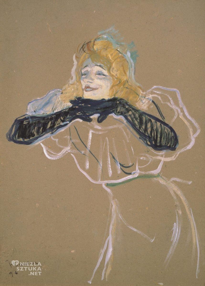 Henri de Toulouse-Lautrec, Yvette Guilbert, sztuka francuska, Muzeum Puszkina, Moskwa, Niezła Sztuka