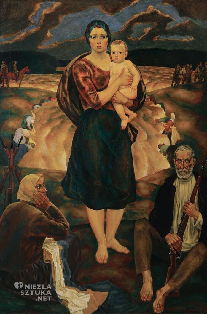 Michaił Sawicki, Partyzancka Madonna, 1978, Muzeum Narodowe w Mińsku, Białoruś