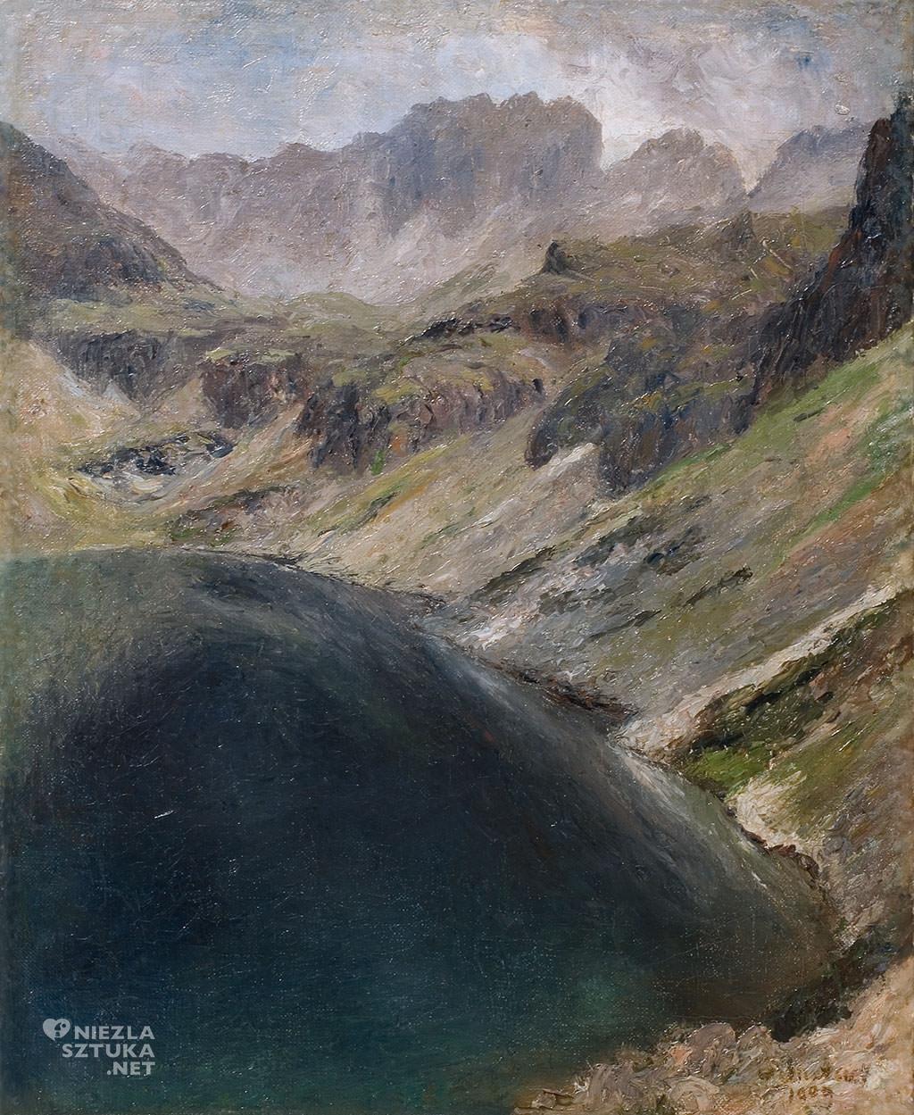 Soter Jaxa Malachowski, Czarny Staw, góry, sztuka polska, malarstwo polskie, Niezła sztuka
