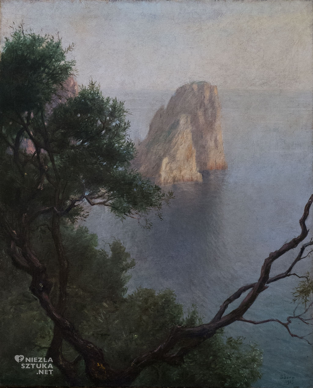 Soter Jaxa-Małachowski, Dolce Capri, morze, sztuka polska, malarstwo polskie, Niezła sztuka