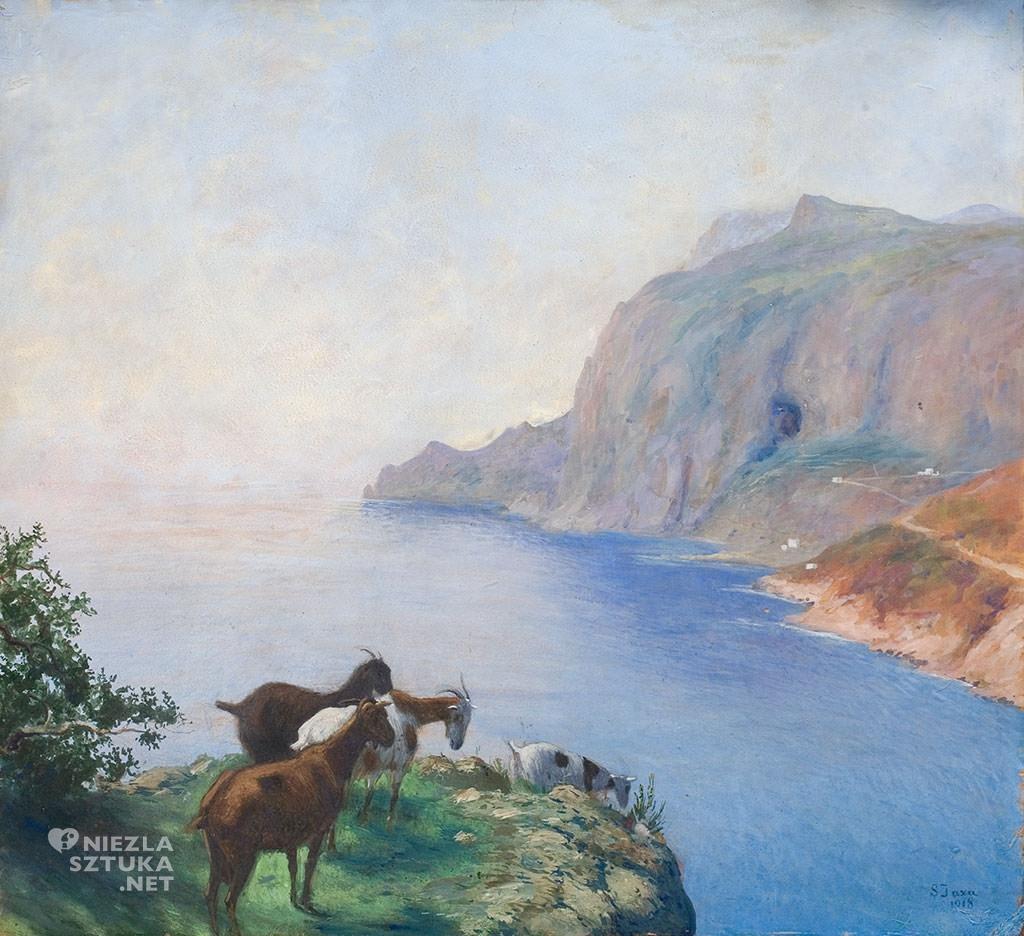 Soter Jaxa-Małachowski, kozy na Capri, malarstwo polskie, sztuka polska, Niezła sztuka