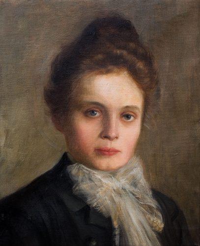Soter Jaxa-Małachowski, Portret żony, malarstwo polskie, sztuka polska, Niezła sztuka