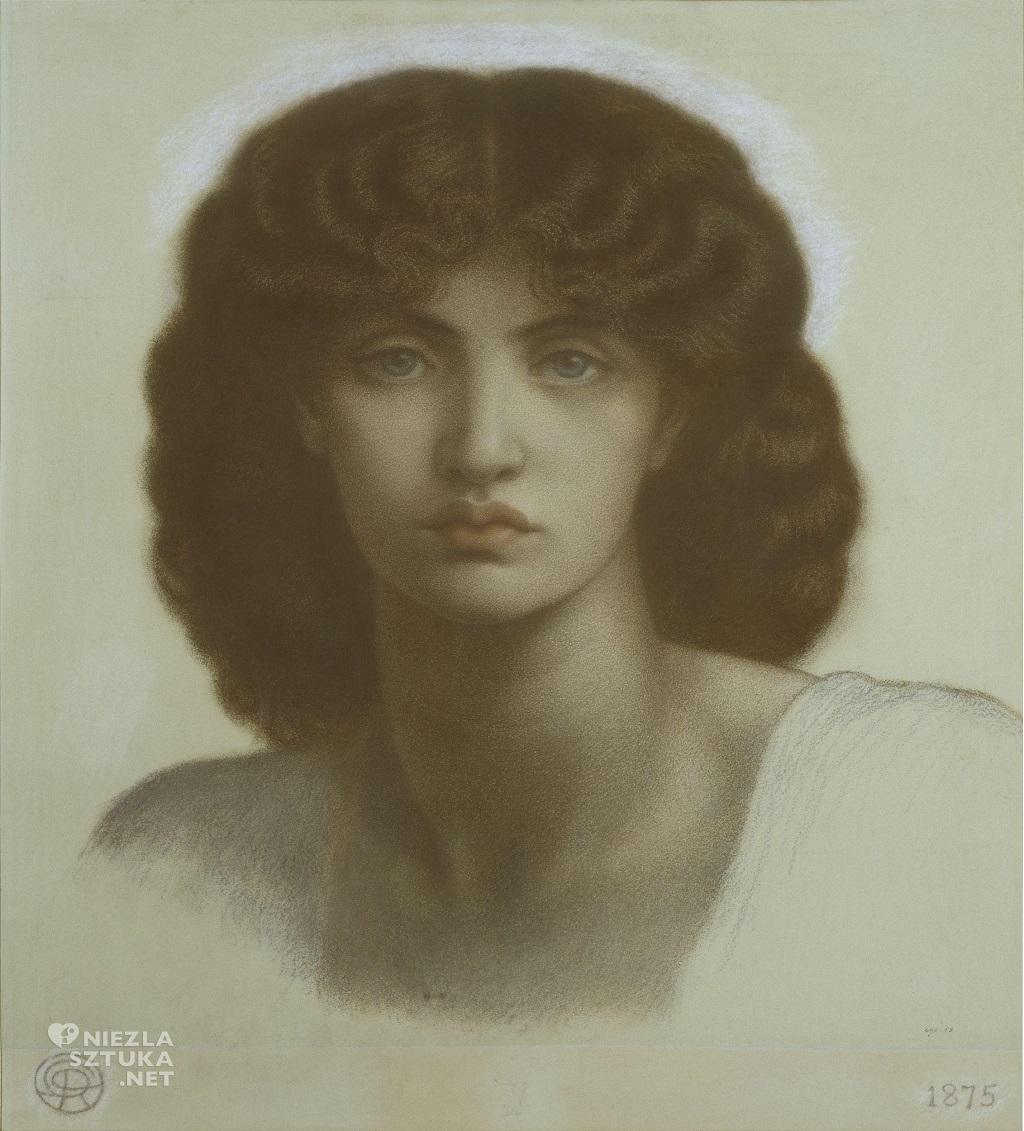 Dante Gabriel Rossetti, Victoria and Albert museum, Astarte Syriaca, szkic, prerafaelici, malarstwo, Niezła Sztuka
