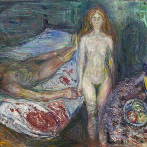 Edvard Munch, Śmierć Marata, sztuka skandynawska, Niezła sztuka