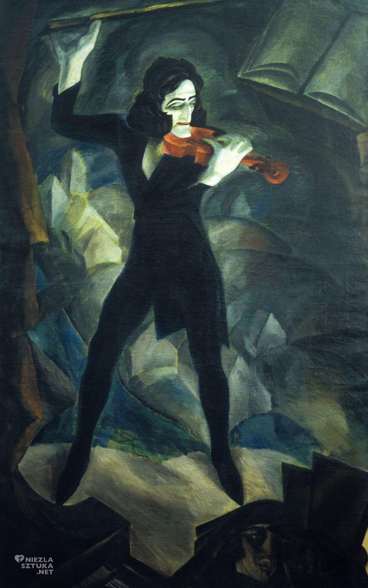 Felicjan Szczęsny Kowarski, Paganini, Muzeum Narodowe w Kielcach, malarstwo polskie, sztuka polska, Niezła sztuka