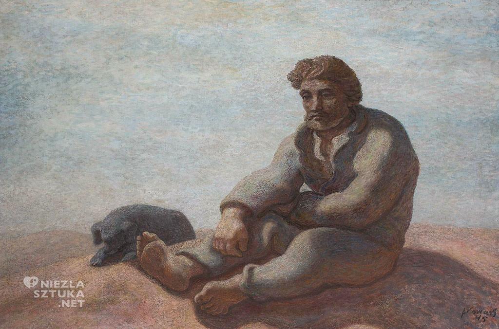 Felicjan Szczęsny Kowarski, Wędrowiec, malarstwo polskie, sztuka polska, Niezła sztuka