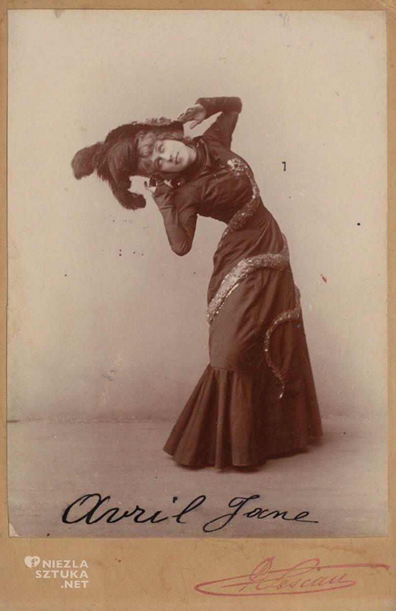 Jane Avril,Henri de Toulouse-Lautrec, Moulin Rouge, kankan, Niezła sztuka