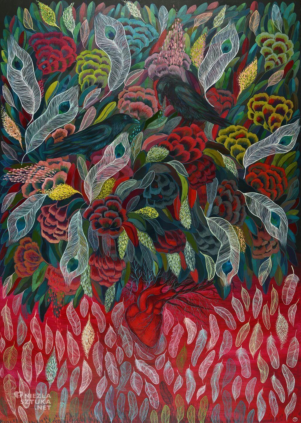 Justyna Stoszek, forest forever, grafika, malarstwo, sztuka polska, młoda sztuka, Niezła sztuka