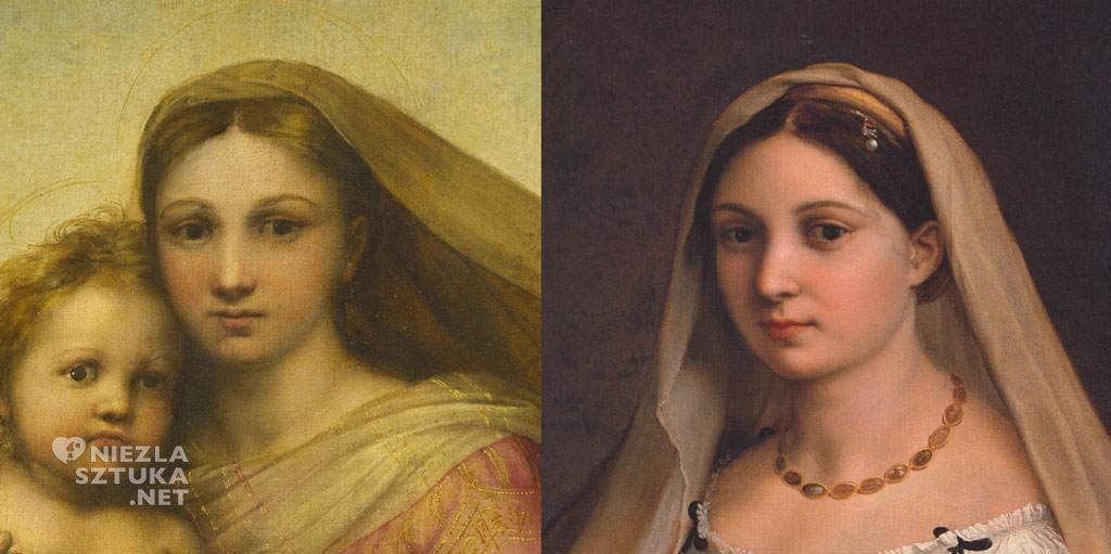 Rafael Santi, La donna velata, Madonna Sykstyńska, Niezła sztuka