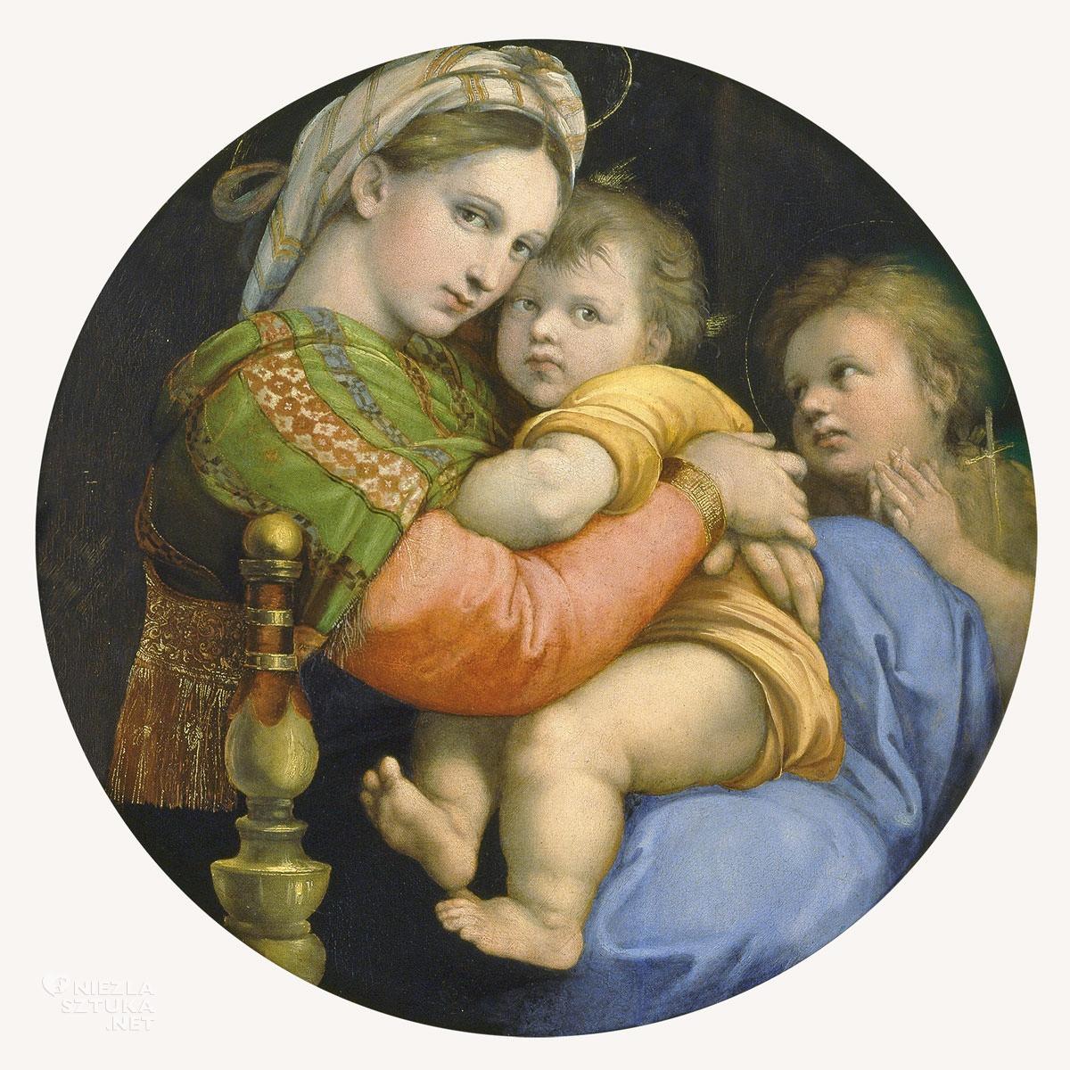 Rafael Santi, Madonna della seggiola, sztuka włoska, malarstwo włoskie, Niezła sztuka