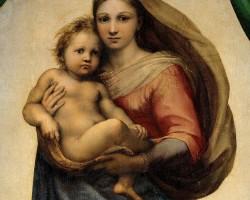Rafael Santi, Madonna Sykstyńska, sztuka włoska, malarstwo włoskie, Niezła sztuka