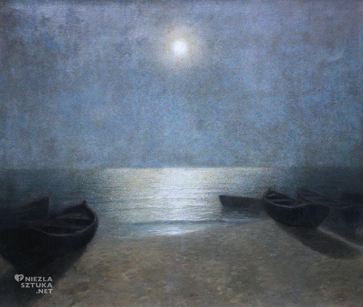 Soter Jaxa-Małachowski, Łodzie, morze, sztuka polska, malarstwo polskie, Niezła sztuka