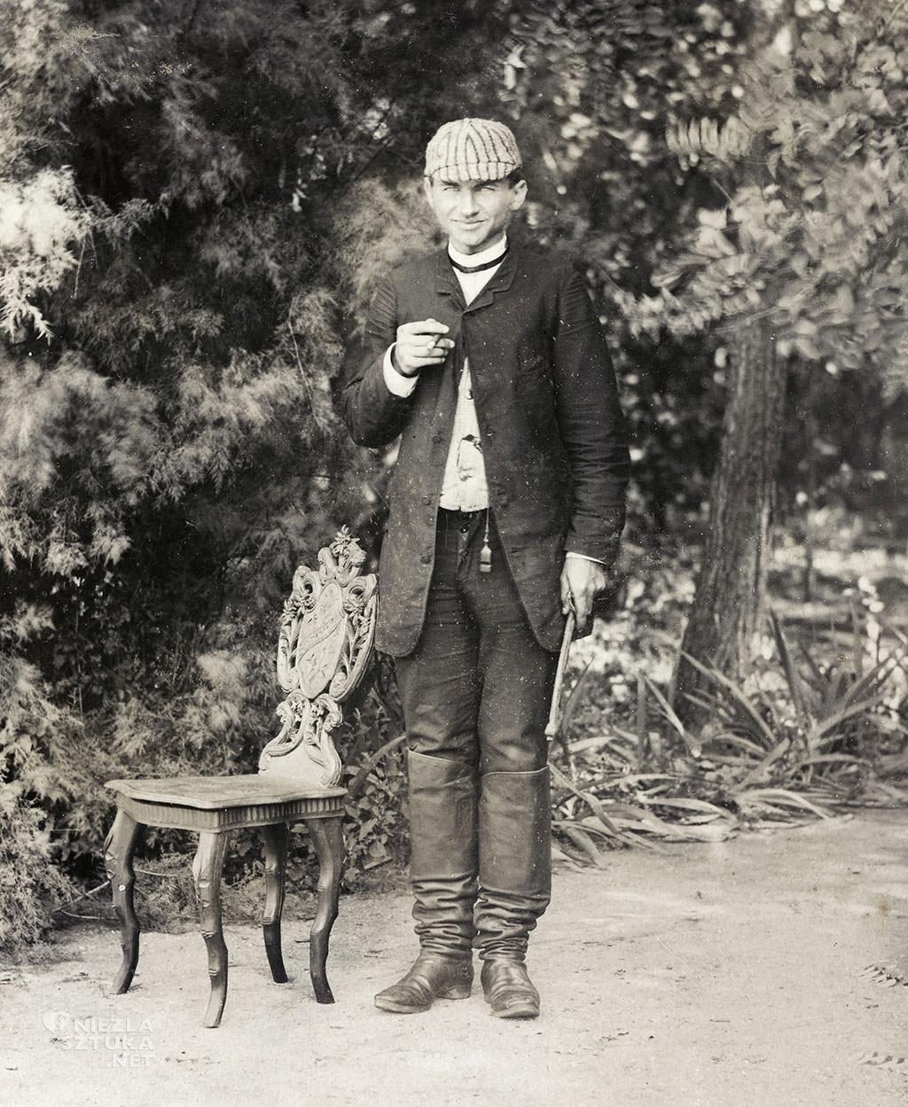 Soter Jaxa-Małachowski w Wolanowie, Wolanów, ok.1890, archiwalna fotografia, polski malarz, sztuka polska, Niezła sztuka