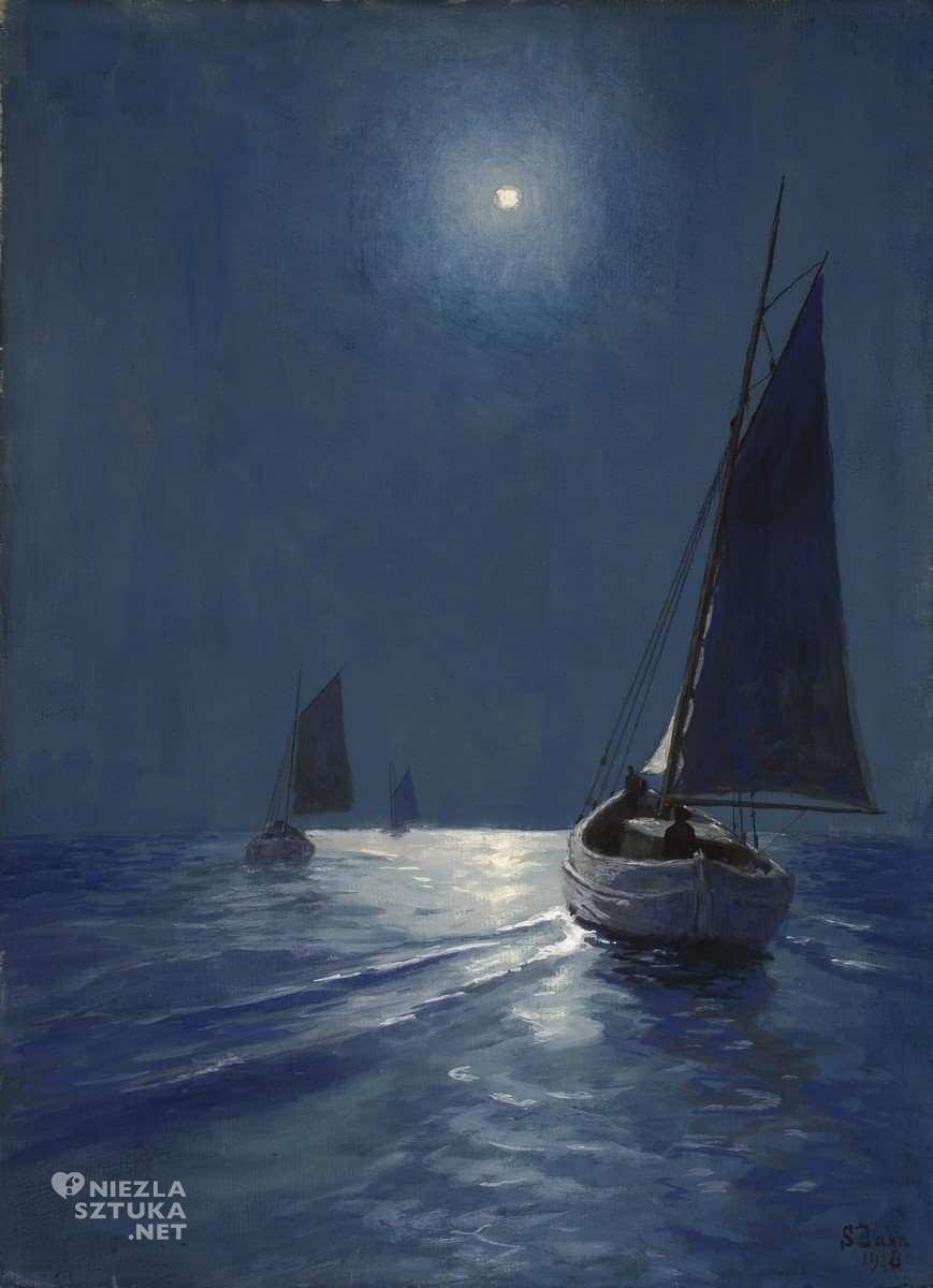 Soter Jaxa-Małachowski, łódź, żagiel, morze, sztuka polska, malarstwo polskie, Niezła sztuka