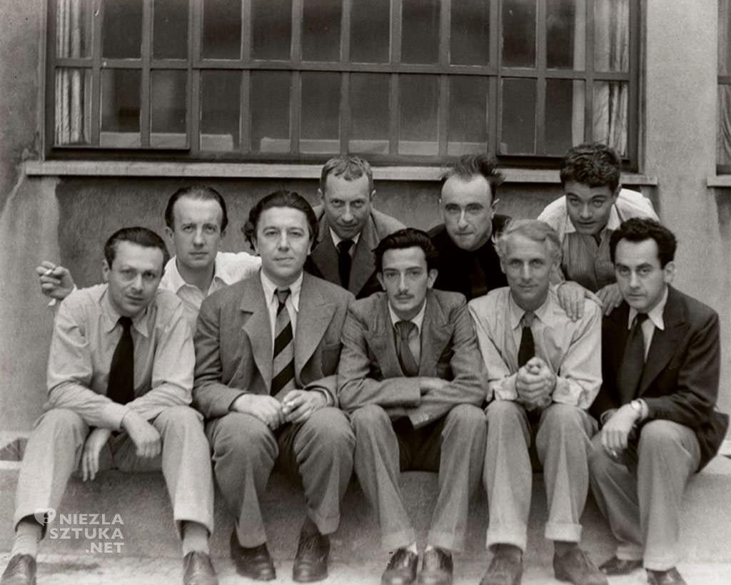 surrealiści, Tristan Tzara, Paul Éluard, André Breton, Hans Arp, Salvador Dalí, Yves Tanguy, Max Ernst, René Crevel, Man Ray, Niezła sztuka