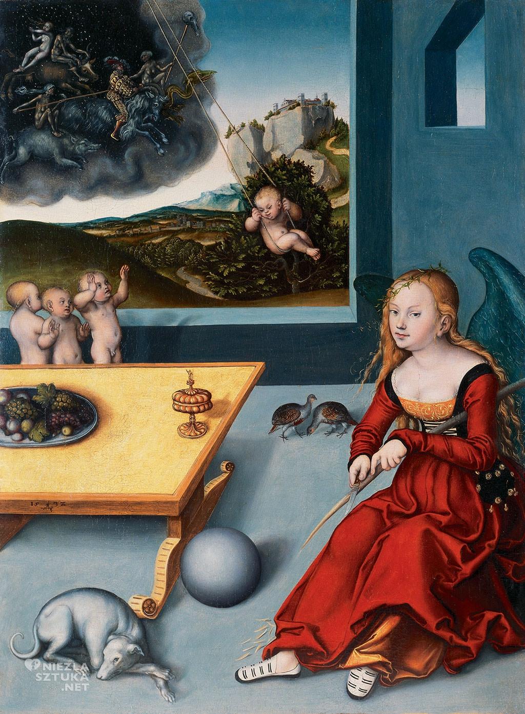 Lucas Cranach Starszy, Albrecht Durer, Melancholia, sztuka niemiecka, Niezła sztuka