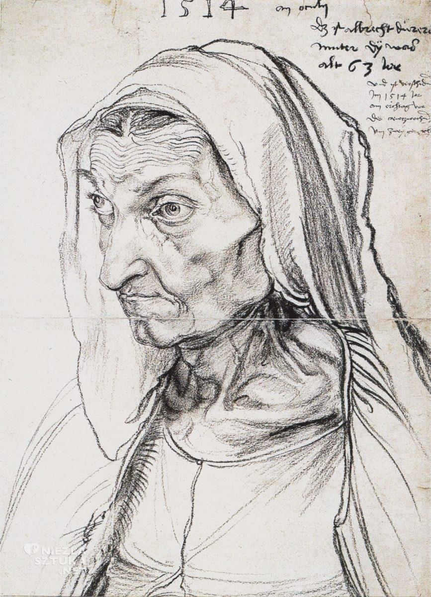 Albrecht Dürer, Portret matki, matka, Niezła sztuka