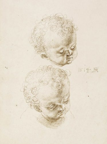 Albrecht Dürer, szkic, putto, Melancholia, British Museum, Londyn, Niezła sztuka