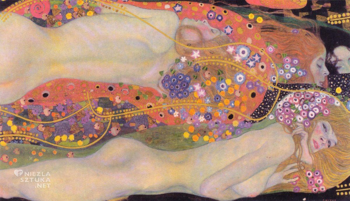Gustav Klimt, Węże wodne II, Niezła sztuka