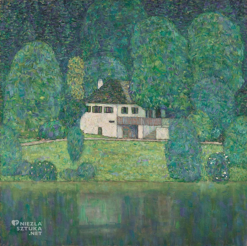 Gustav Klimt, Litzlbergkeller nad jeziorem Attersee, pejzaż, Niezła sztuka