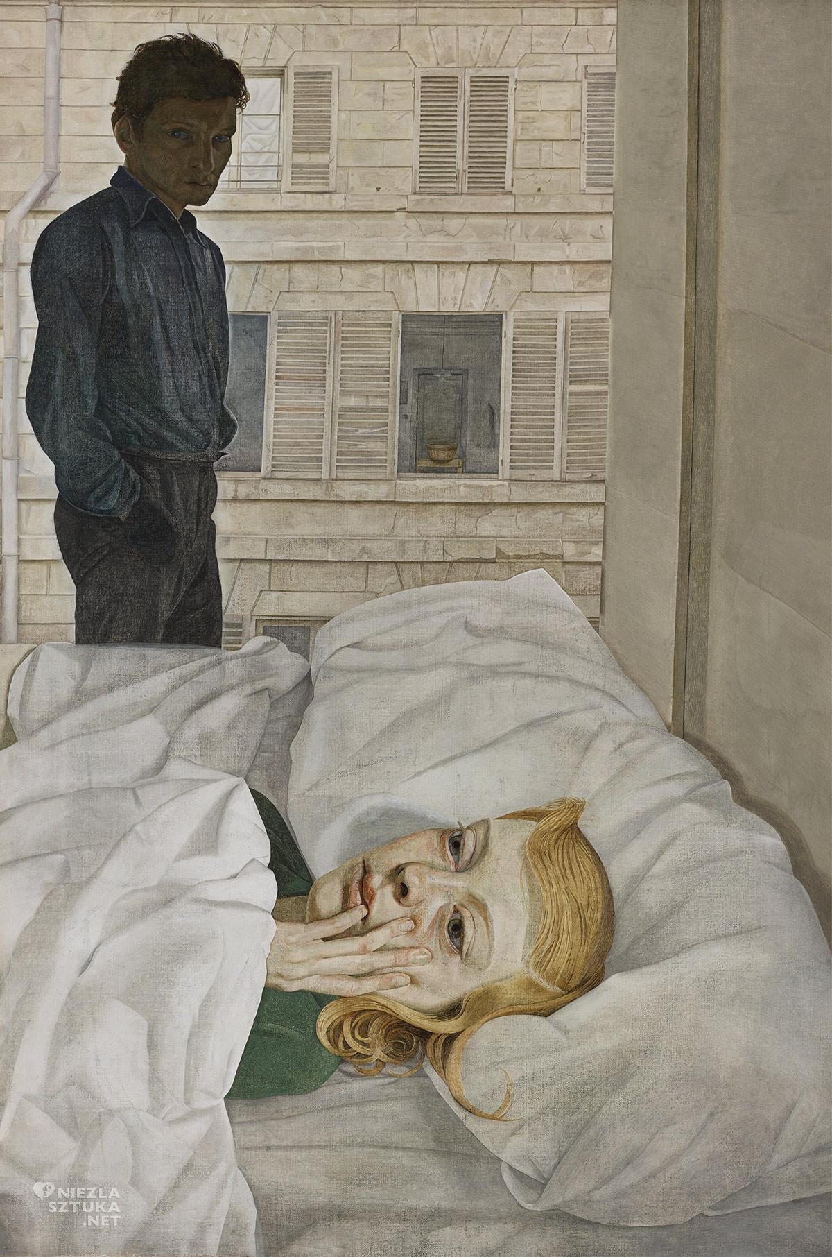 Lucian Freud, Sypialnia hotelowa, sztuka brytyjska, Niezła sztuka
