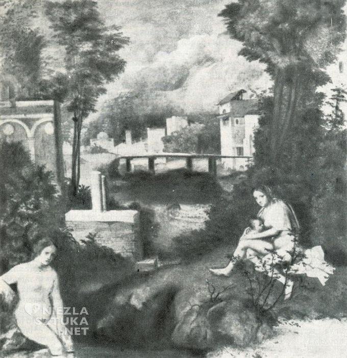 Giorgione Burza, prześwietlenie | ok. 1506, Gallerie dell'Accademia, Wenecja