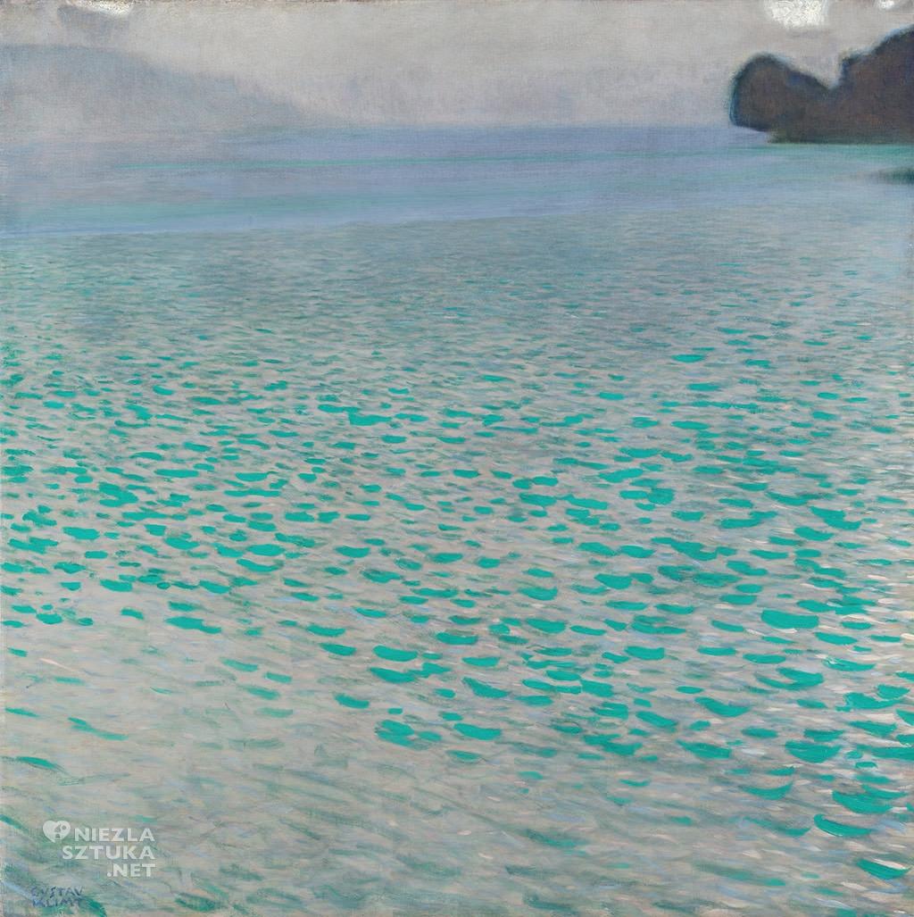 Gustav Klimt, Attersee, pejzaż, Niezła sztuka