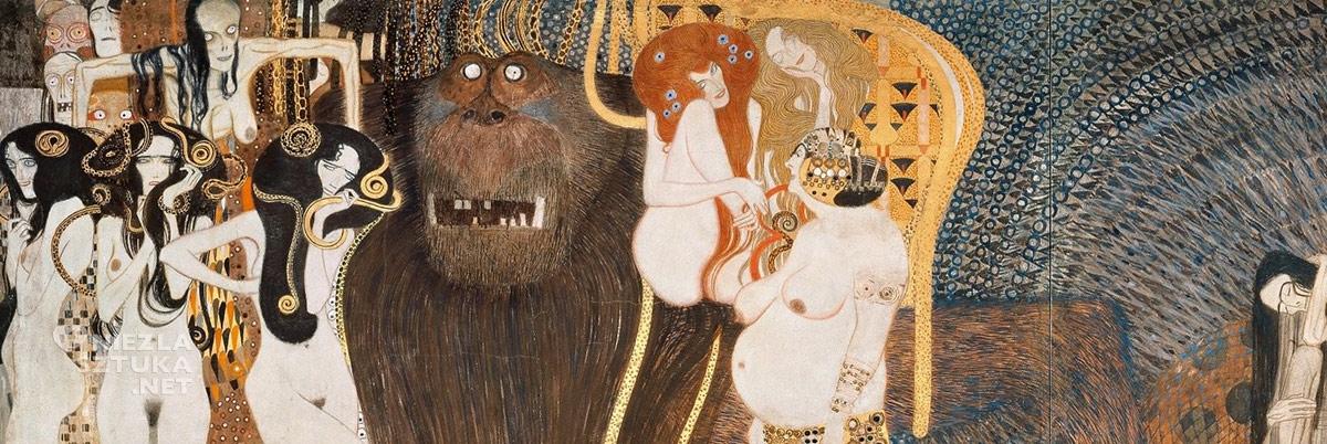 Gustav Klimt, Fryz Beethovena, secesja, Wiedeń, Niezła sztuka