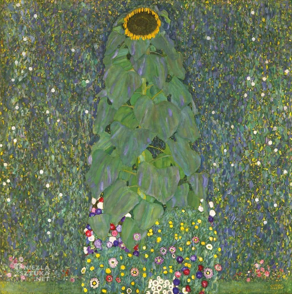 Gustav Klimt, Słonecznik, Belvedere, secesja, Niezła sztuka