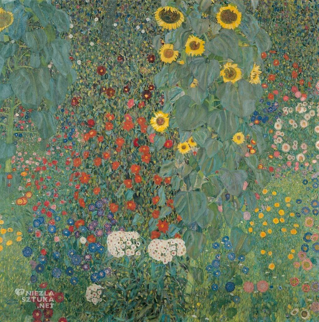 Gustav Klimt, Słoneczniki, Belvedere, secesja, Niezła sztuka