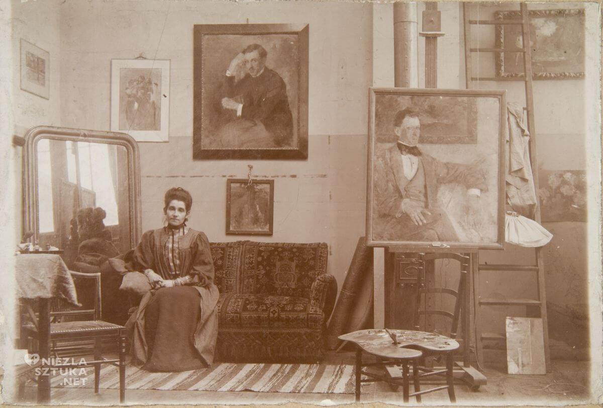 Olga Boznańska w monachijskiej pracowni, Niezła sztuka