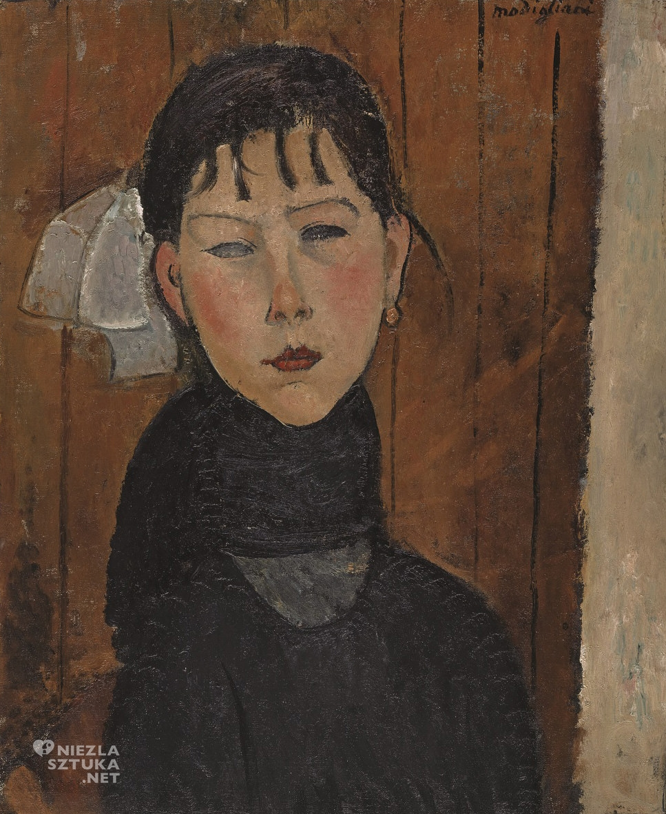 Amedeo Modigliani, Marie, sztuka włoska, malarstwo olejne, portret, ekspresjonizm, sztuka nowoczesna, Ecole de Paris, Niezła Sztuka