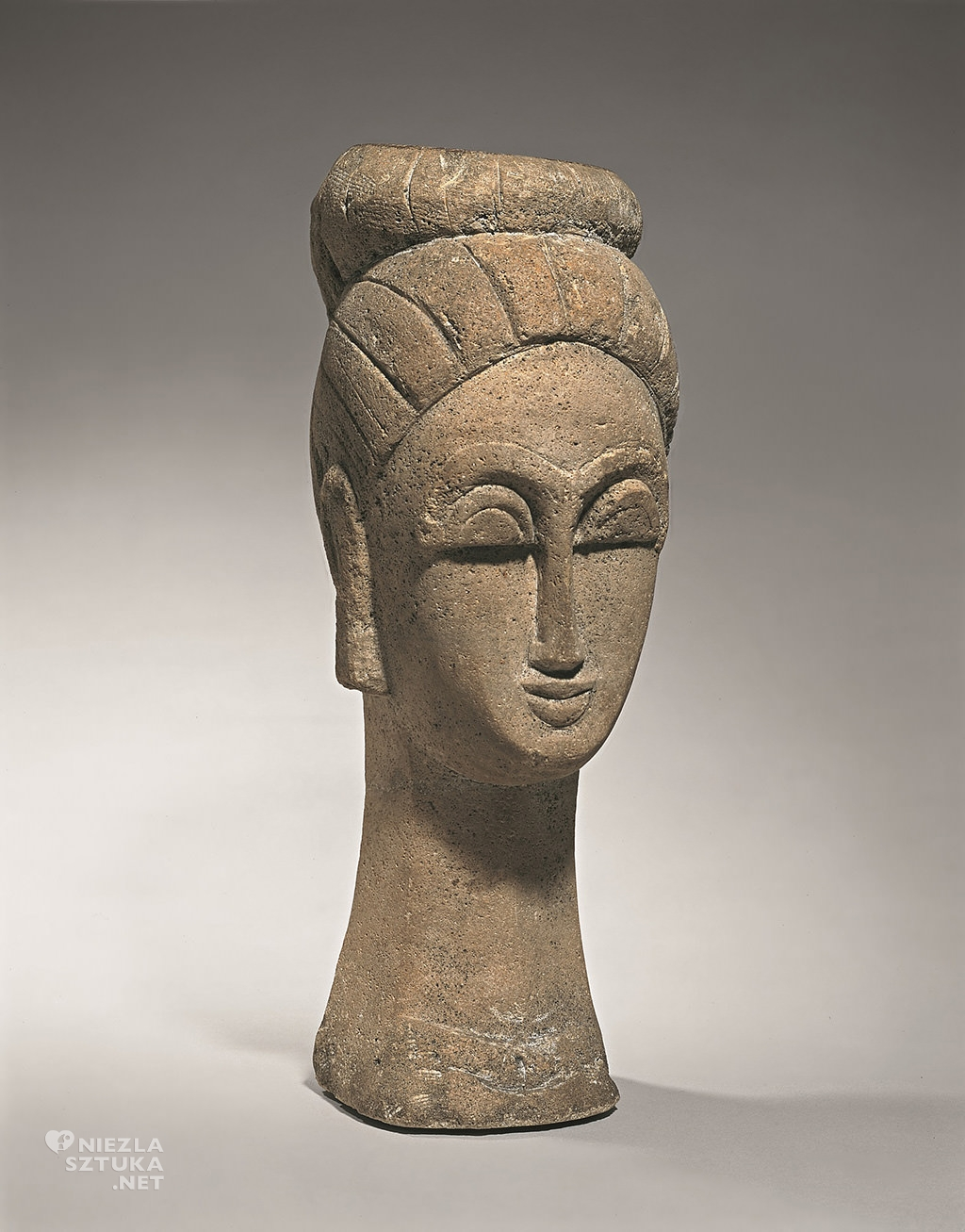 Amedeo Modigliani, Głowa kobiety, rzeźba, sztuka włoska, sztuka nowoczesna, Ecole de Paris, Niezła Sztuka