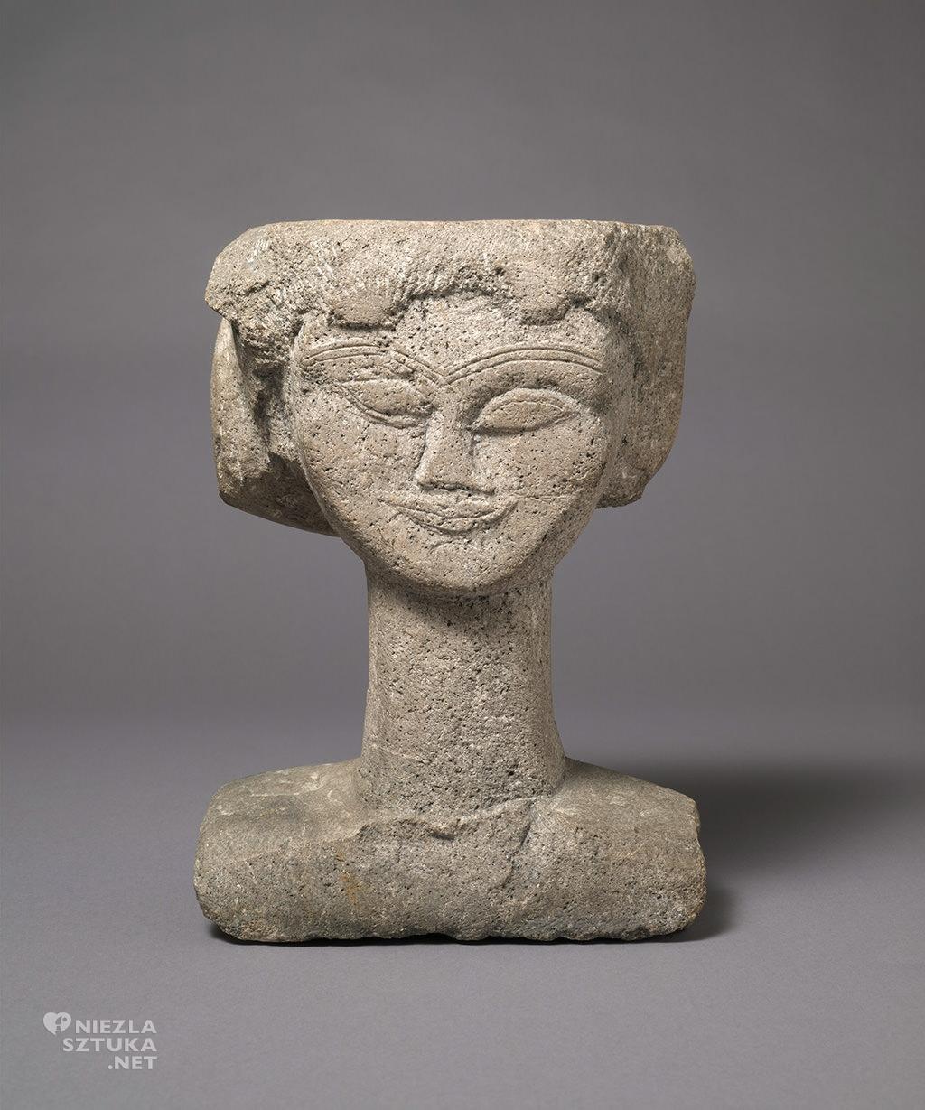 Amedeo Modigliani, Głowa, rzeźba, sztuka włoska, sztuka nowoczesna, Ecole de Paris, Niezła Sztuka