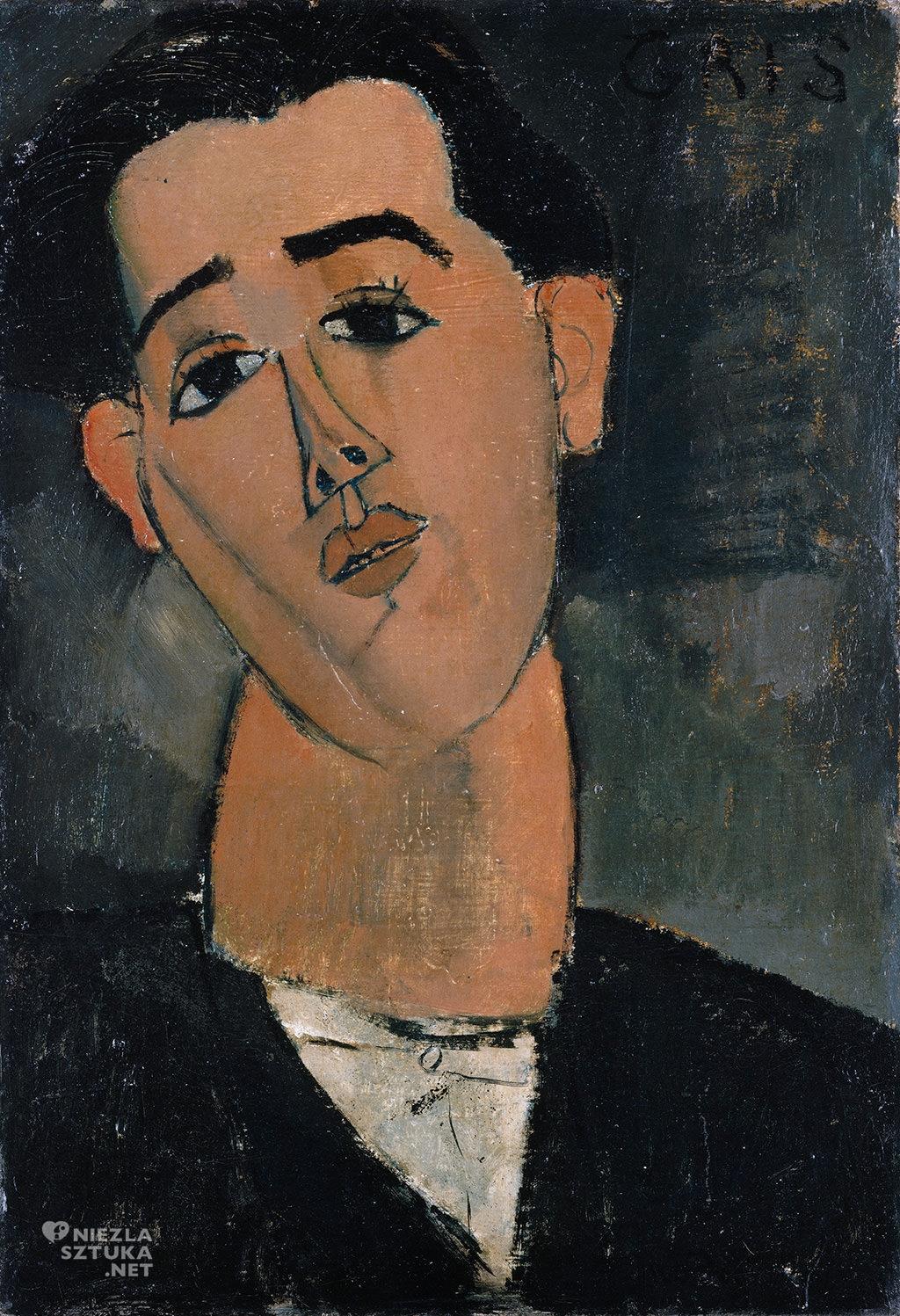 Amedeo Modigliani, Juan Gris, sztuka włoska, malarstwo olejne, portret, ekspresjonizm, sztuka nowoczesna, Ecole de Paris, Niezła Sztuka