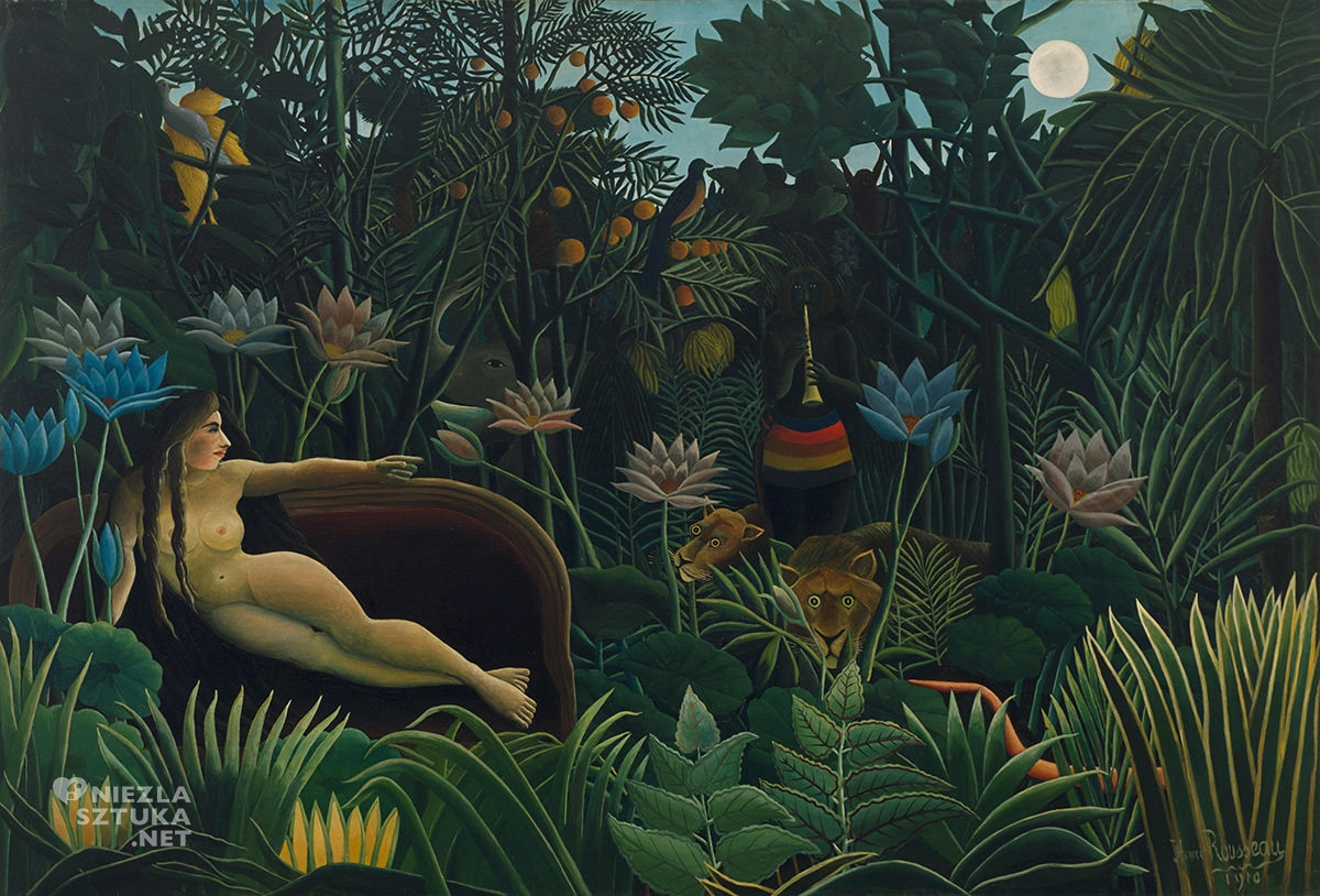 Henri Rousseau, Sen, Moma, akt, akt w malarstwie, sztuka naiwna, Niezła sztuka