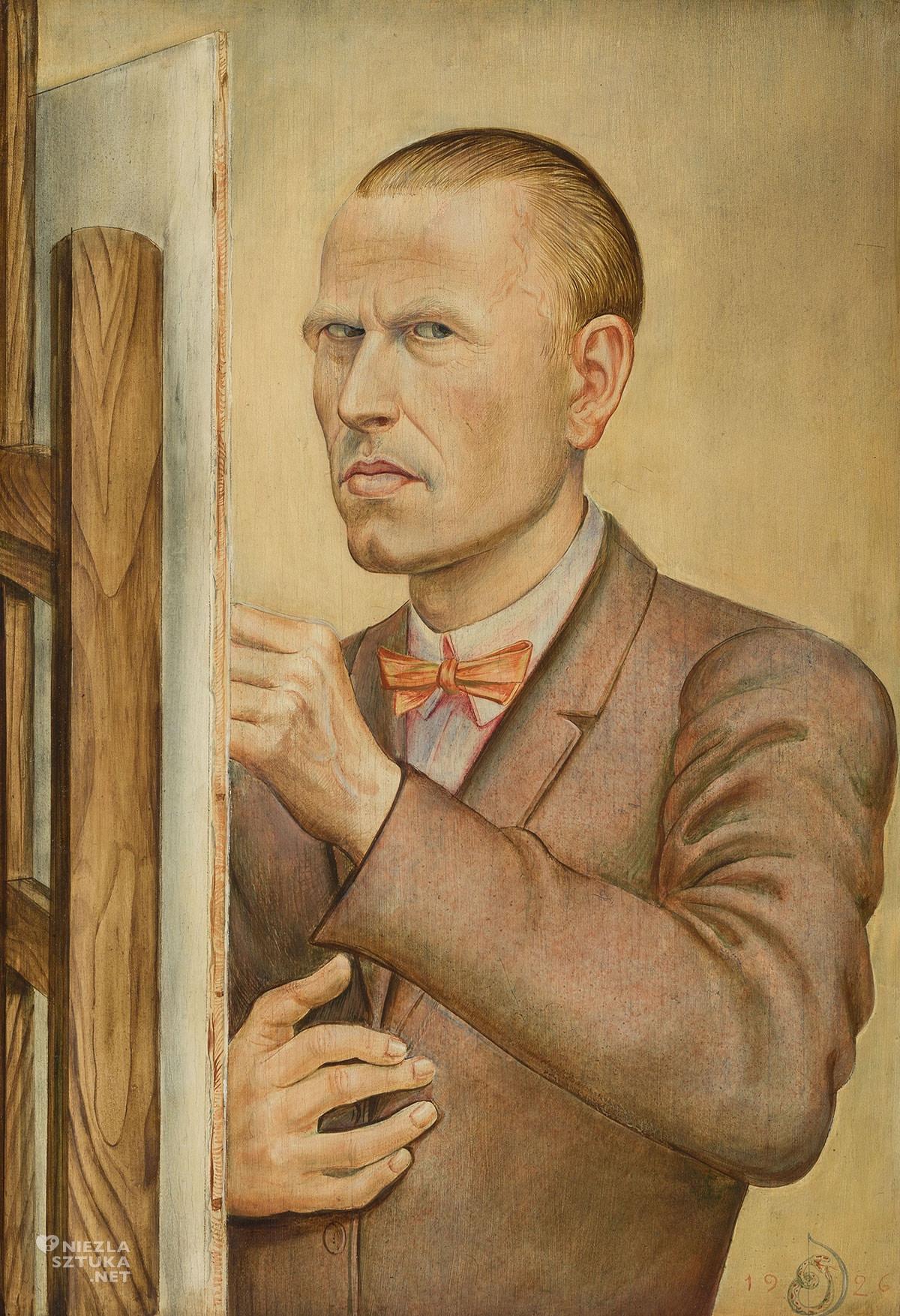 Otto Dix, Autoportret ze sztalugą, Niezła Sztuka