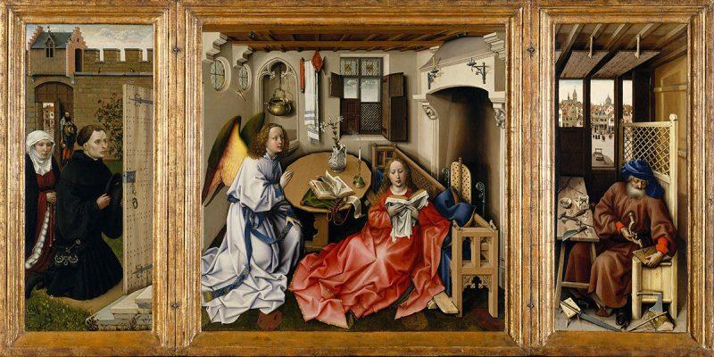 Robert Campin, Ołtarz Mérode, Zwiastowanie, sztuka niderlandzka, Niezła sztuka