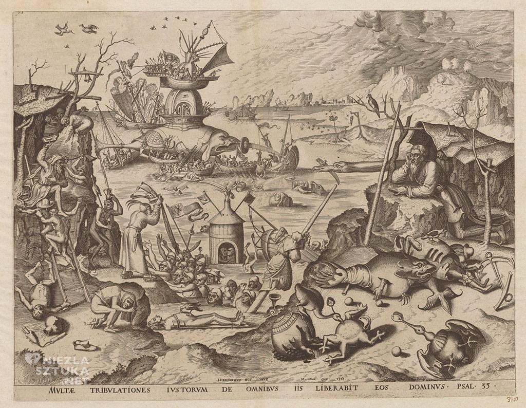 Bosch, kuszenie św. Antoniego, grafika, Niezła Sztuka