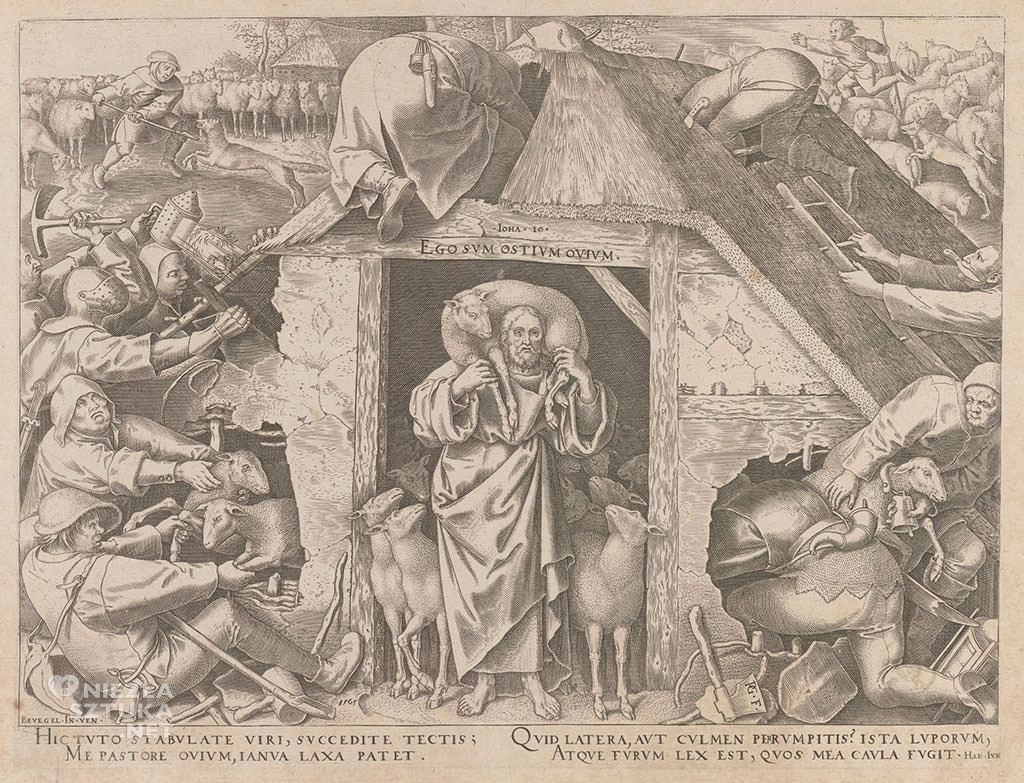 Pieter Bruegel Starszy, Dobry Pasterz, grafika, Niezła sztuka