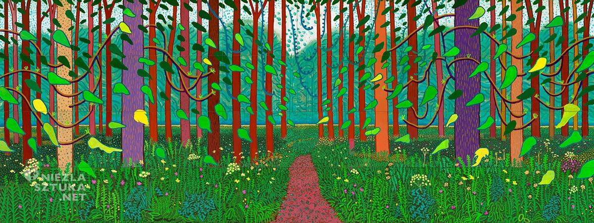 David Hockney, Przybycie wiosny w Woldgate, malarstwo, sztuka współczesna