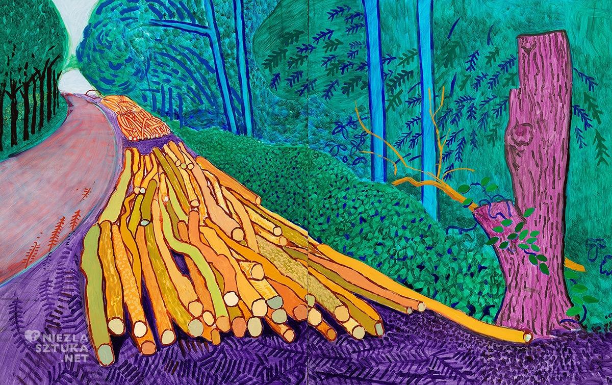 David Hockney, Więcej powalonych drzew na Woldgate, malarstwo, sztuka współczesna