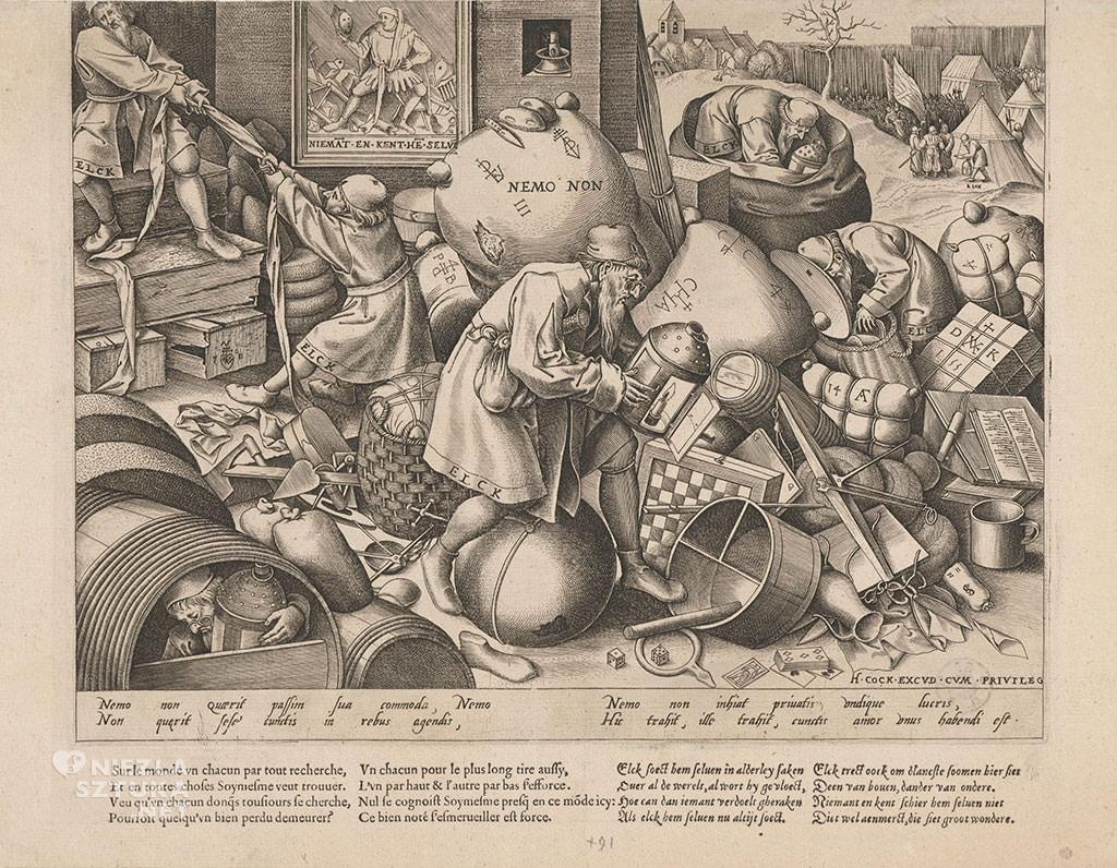 Pieter Bruegel Starszy, elck, każdy, grafika, Niezła sztuka