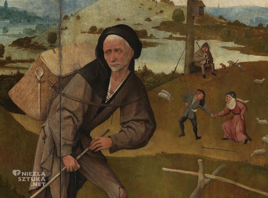 Hieronim Bosch, Wędrowiec, tryptyk Wóz z sianem, Prado, Niezła sztuka