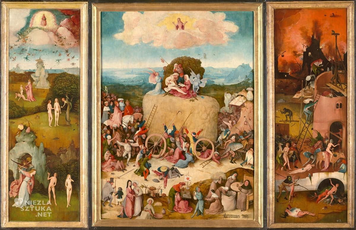 Hieronim Bosch, tryptyk Wóz z sianem, Prado, Niezła sztuka